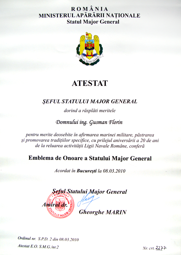 Emblema de Onoare a Statului Major General